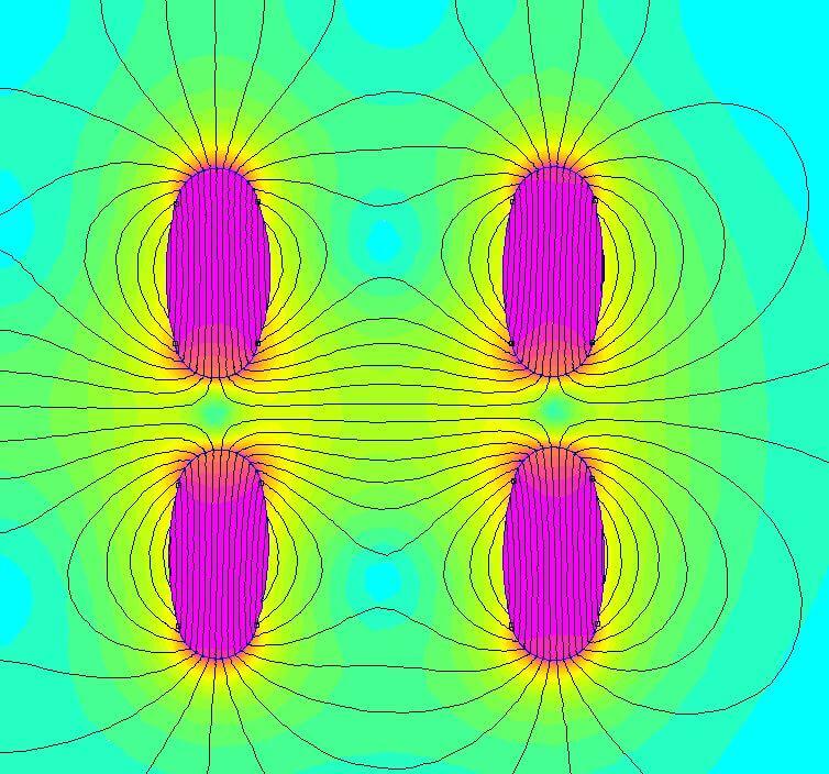 Магнитное поле изодинамических излучателей